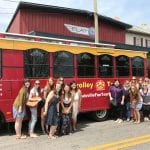 Trolley Tour stop at Flat12